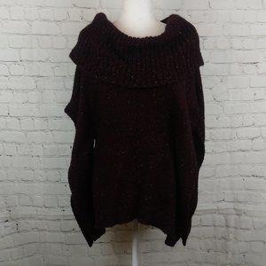 White House Black Market Poncho Knit Sweater Sz S